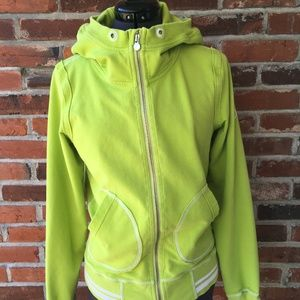 Lululemon Full-Zip Flashback Hoodie Lime Green 8/M